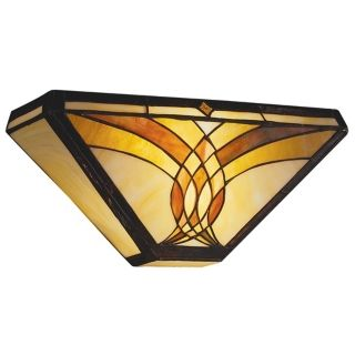 "Art Glass Joined Curves 15"" Wide Sconce   #03363"