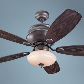 "52"" Monte Carlo Weatherstar Wet Ceiling Fan with Light Kit   #U6020"