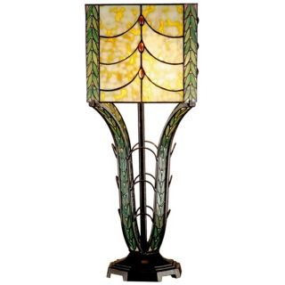 Dale Tiffany Calver Hand Rolled Art Glass Table Lamp   #X2567