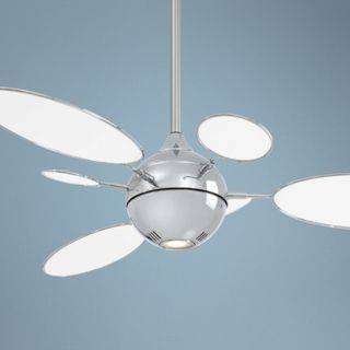"54"" Minka Aire Cirque Polished Nickel Ceiling Fan   #T8786"