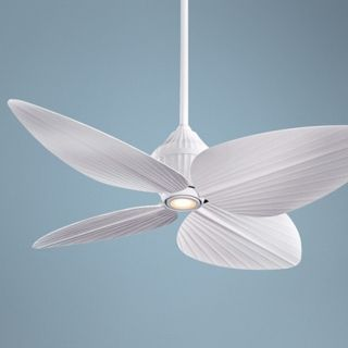 "52"" Minka Aire Gauguin Flat White Outdoor Ceiling Fan   #89556"