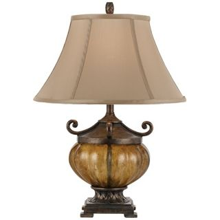Horizon Marisposa Copper Glass Accent Table Lamp   #T3308