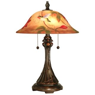 Tropical Sun Hand Painted Dale Tiffany Table Lamp   #X3767