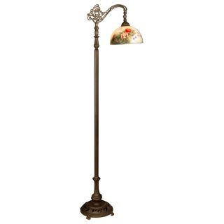 Dale Tiffany Rose Dome Downbridge Floor Lamp   #R9860