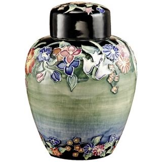 Dale Tiffany Flower Garden Hand Painted Porcelain Jar   #X5543