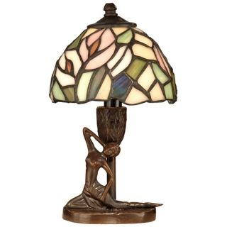 Dale Tiffany Lady Art Glass Accent Lamp   #X3764