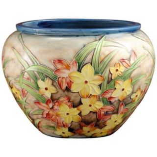 Dale Tiffany Springtime Hand Painted Porcelain Bowl   #X5559