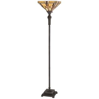 Quoizel Finton Tiffany Style Torchiere Floor Lamp   #V1694