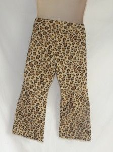 Jumping Beans Girls Brown Leopard Print Elastic Waist Pull on Pants