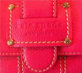 Kate Spade Fuschia Leather Melinda Bellmeade Wallet