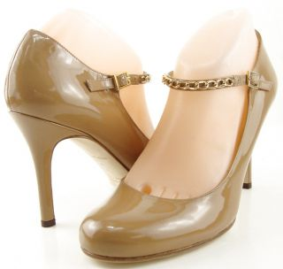 Kate Spade Kea Camel Patent Womens Designer Shoes High Heel Mary Jane