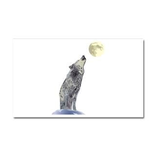 Car Accessories  Wolf Howling at Full Moon Car Magnet 20 x 12