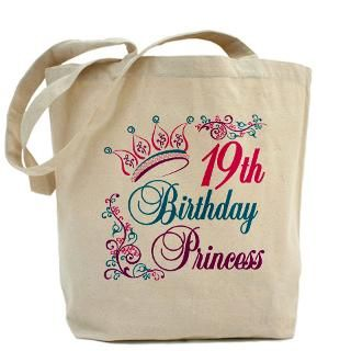 Happy Birthday Tiara Bags & Totes  Personalized Happy Birthday Tiara