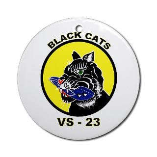 VS 23 Black Cats Ornament (Round) for $12.50