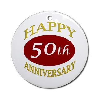 50 Years Wedding Anniversary Gifts Ideas Christmas Ornaments  Unique
