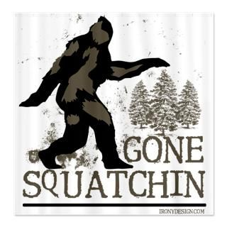 Gone Squatchin  Irony Design Fun Shop   Humorous & Funny T Shirts,