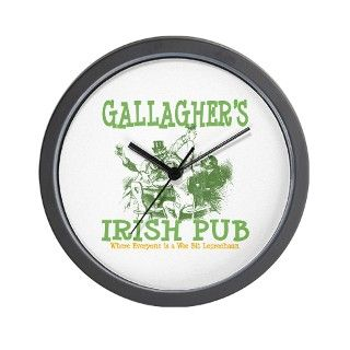 Gallaghers Vintage Irish Pub Personalized Wall Cl by bestnametees