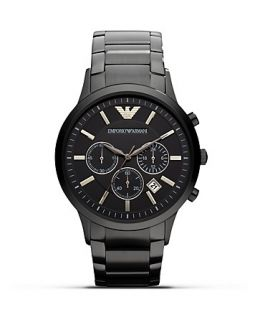 Emporio Armani 316 Stainless Steel Bracelet with Black Dial Watch