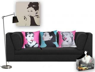 pop art cushion cover audrey hepburn born audrey kathleen ruston 4
