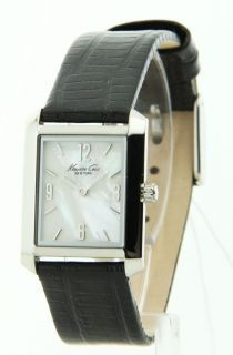 Kenneth Cole Leather Fashion MOP Womens Watch KC2567
