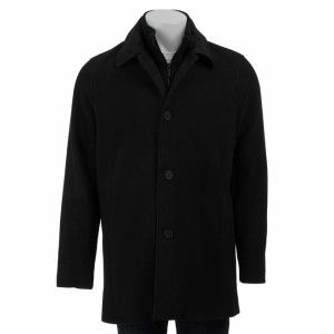 Kenneth Cole Reaction Patrick Car Coat Jacket Black M