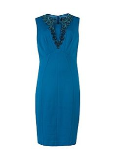 Ted Baker Renea embellished collar dress Bright Blue