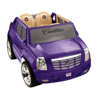 Power Wheels Cadillac Escalade 12V Electric Kids Ride On Car   Purple
