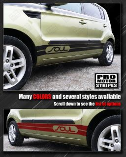 Kia Soul Side Rocker Panel Stripes 2008 2009 2010 2011 2012 2013
