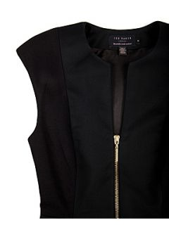 Ted Baker Jamthun zip detail dress Black