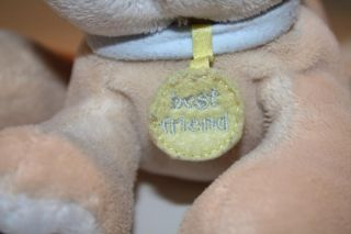 Koala Baby Plush Dog Best Friend Tag Tan Blue 8 Chime Rattle Lovey