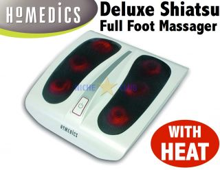 Homedics Shiatsu Foot Massager Heat Deep Kneading Massage Stress Pain
