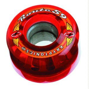 Kryptonics Krypto Route Skateboard Wheels 59mm Red