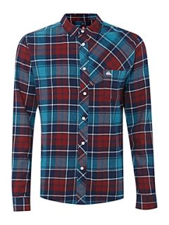 Quiksilver Long sleeved checked shirt Marine
