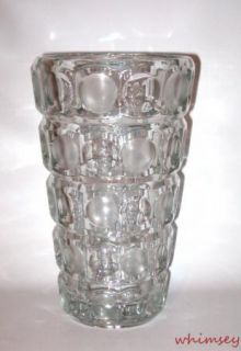 Rosice Large 10 Clear Glass Vase Frosted Lens Sklo Union Czech 1957