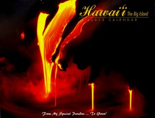 Hawaiian 2013 Big Island Calendar Lava Kona Coast Volcano Waterfall