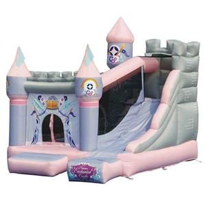 Enchanted Castle Inflatable Bounce House with Slide by Kidwise