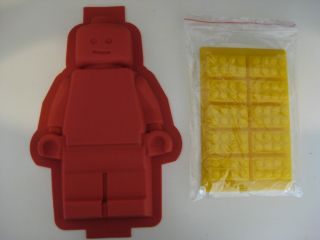 Lego Silicone Minifigure Cake Pan Mold Brick Tray Set