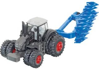 Siku Fendt 939 Tractor with Lemken Plough 1 87 Scale Die Cast Toy