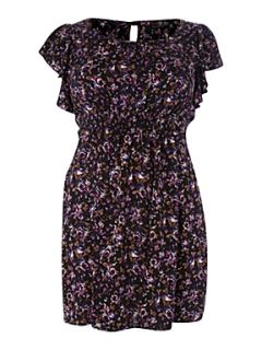 Lovedrobe Ditsy floral print dress Purple