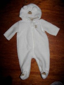 Carters Infant Sleeper Pajamas Little Teddy Bear Hoodie Plush Warm