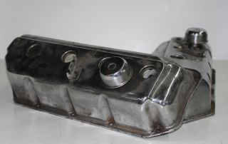 Vintage 426 Chrysler Plymouth Dodge Hemi Factory Chrome Valve Covers