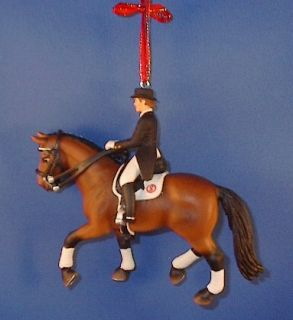 Cm Dressage Horse Rider Christmas Ornament