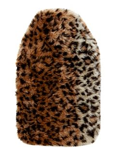 Linea Leopard print faux fur hot water bottle