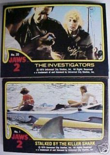 Jaws Series 2 Trading Card Basic Set
