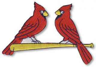 ST. LOUIS CARDINALS TEAM RED BIRDS ON BAT LOGO SLEEVE PATCH JERSEY MLB