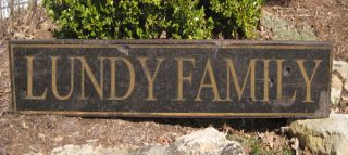 Lundy Family Name Sign Personalized Lastname Painted Wooden Sign