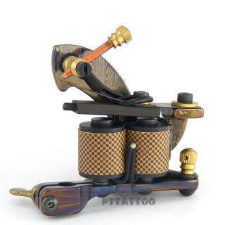 Custom Handmade Damascus Tattoo Machine Gun Shader