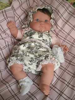 Reborn Berenguer Baby Girl Doll *Madeline in Toile Boutique Layette