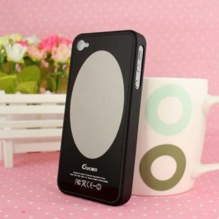 Black Guoer Magic Mirror Makeup Mirror Case Cover for iPhone 4 4S