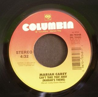 MARIAH CAREY~Cant Take That Away (Mariahs Theme)~Columbia 79348 45